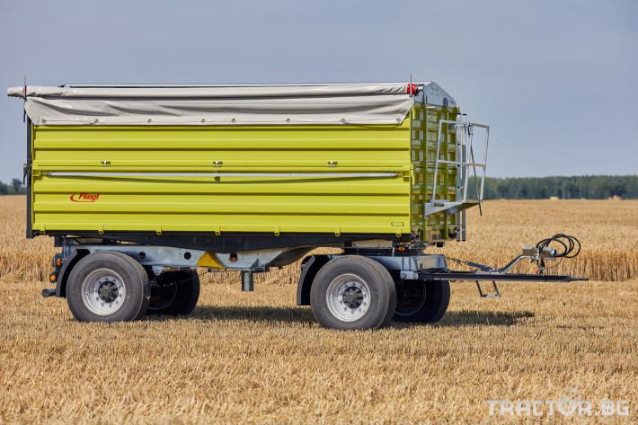Ремаркета и цистерни Самосвално ремарке Флигел с тристранно разтоварване 18 тона 0 - Трактор БГ