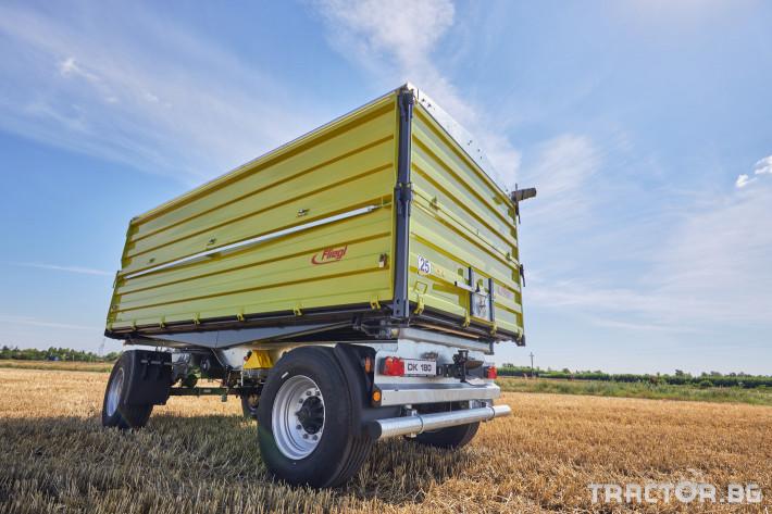 Ремаркета и цистерни Самосвално ремарке Флигел с тристранно разтоварване 18 тона 1 - Трактор БГ
