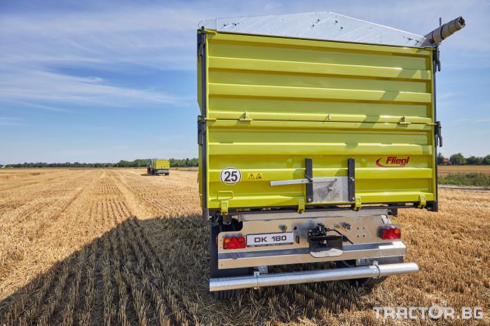 Ремаркета и цистерни Самосвално ремарке Флигел с тристранно разтоварване 18 тона 2 - Трактор БГ