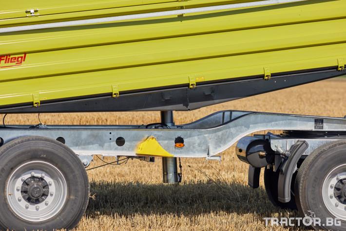 Ремаркета и цистерни Самосвално ремарке Флигел с тристранно разтоварване 18 тона 3 - Трактор БГ