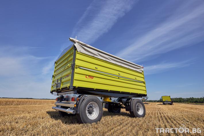 Ремаркета и цистерни Самосвално ремарке Флигел с тристранно разтоварване 18 тона 4 - Трактор БГ