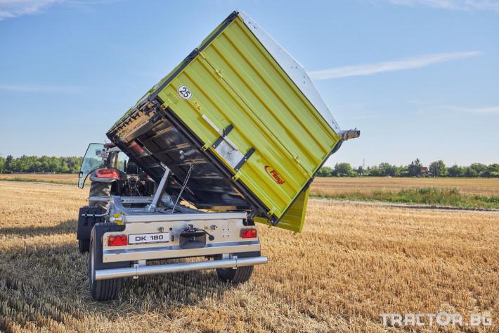 Ремаркета и цистерни Самосвално ремарке Флигел с тристранно разтоварване 18 тона 5 - Трактор БГ