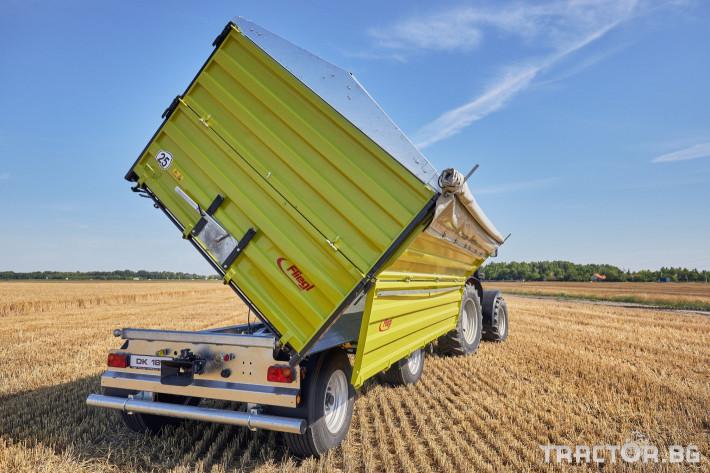 Ремаркета и цистерни Самосвално ремарке Флигел с тристранно разтоварване 18 тона 6 - Трактор БГ