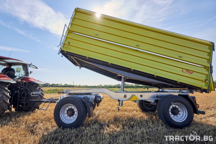 Ремаркета и цистерни Самосвално ремарке Флигел с тристранно разтоварване 18 тона 7 - Трактор БГ