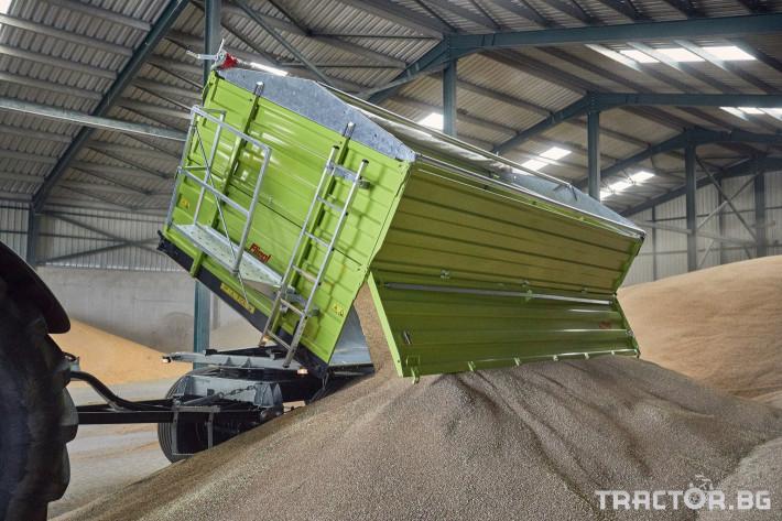 Ремаркета и цистерни Самосвално ремарке Флигел с тристранно разтоварване 18 тона 8 - Трактор БГ
