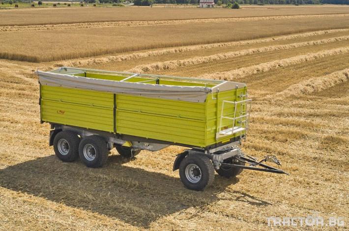 Ремаркета и цистерни Самосвално ремарке Флигел с тристранно разтоварване триосно 24 тона 0 - Трактор БГ
