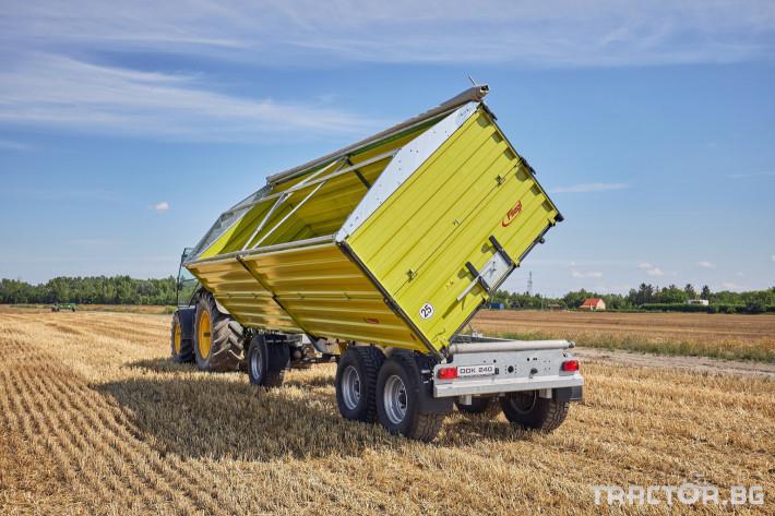 Ремаркета и цистерни Самосвално ремарке Флигел с тристранно разтоварване триосно 24 тона 2 - Трактор БГ