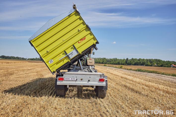 Ремаркета и цистерни Самосвално ремарке Флигел с тристранно разтоварване триосно 24 тона 4 - Трактор БГ