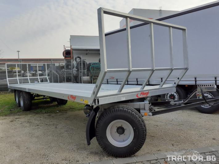 Ремаркета и цистерни Триосна платформа Флигел за бали 1 - Трактор БГ