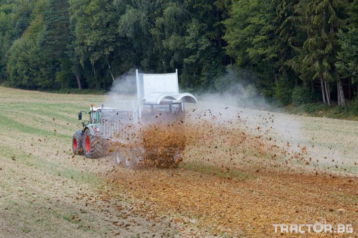 Ремаркета и цистерни Тороразхвърлящо ремарке Флигел с хидравлично избутваща челна стена 3 - Трактор БГ