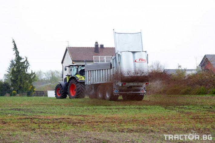 Ремаркета и цистерни Тороразхвърлящо ремарке Флигел с хидравлично избутваща челна стена 4 - Трактор БГ