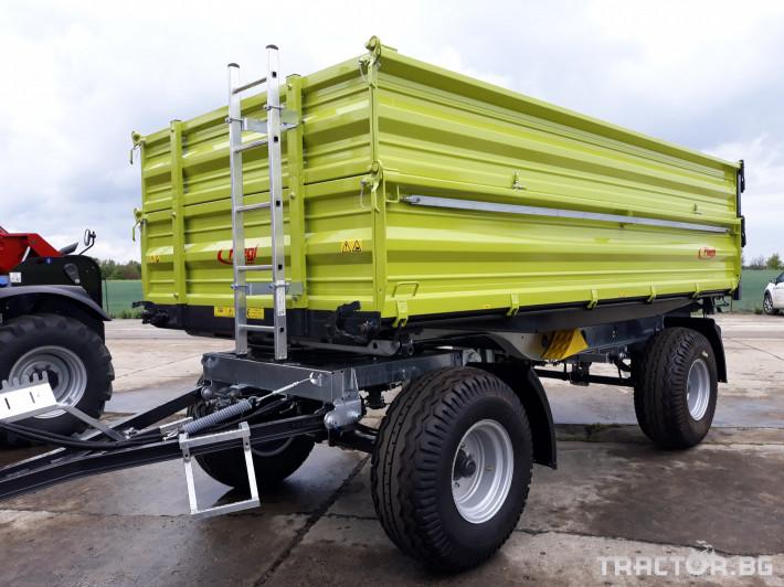 Ремаркета и цистерни Fliegl Самосвално ремарке с тристранно разтоварване 11 тона 0 - Трактор БГ