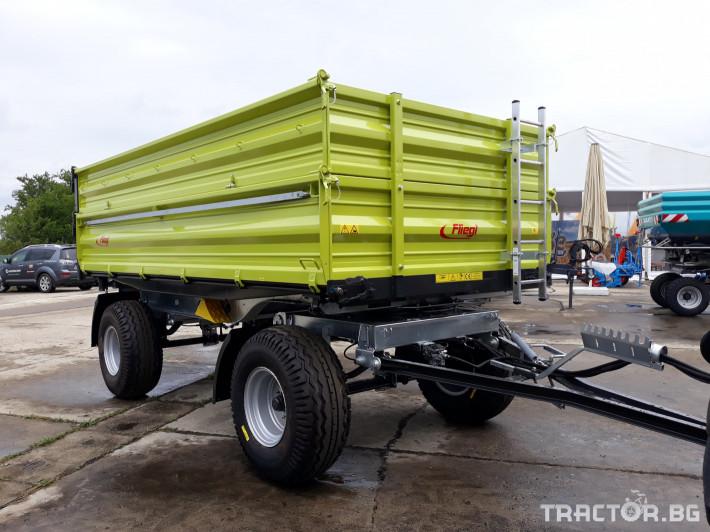 Ремаркета и цистерни Fliegl Самосвално ремарке с тристранно разтоварване 11 тона 1 - Трактор БГ