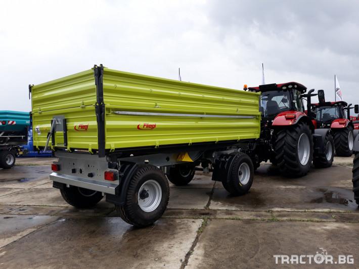 Ремаркета и цистерни Fliegl Самосвално ремарке с тристранно разтоварване 11 тона 2 - Трактор БГ
