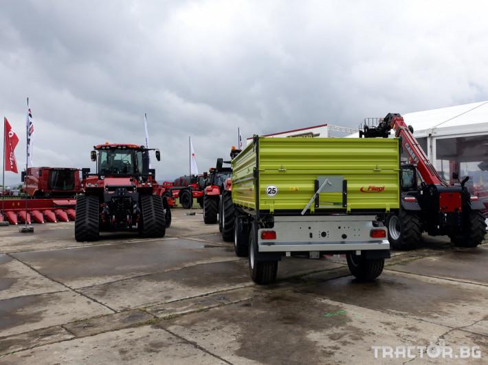 Ремаркета и цистерни Fliegl Самосвално ремарке с тристранно разтоварване 11 тона 3 - Трактор БГ