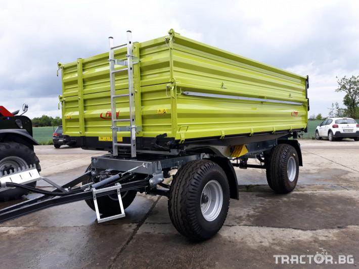 Ремаркета и цистерни Fliegl Самосвално ремарке с тристранно разтоварване 11 тона 5 - Трактор БГ